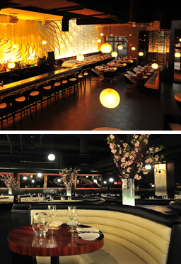 Stk Atlanta An Upscale Restaurant And Bar Features The Brand S Signature Cattle Horn Artwork Celebrates It On A Grand Scale